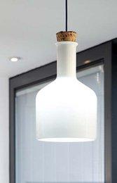 wholesale modern nordic american white glass pendant light shrek magic bottle hanging light blown glass suspension light free shipping blown glass bottle pendant