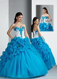 Wholesale Sweetheart Flowers Ruffles Beaded Ball Gown Quinceanera Dresses Lace Up Back Tiered Organza Floor Length Prom Dresses Y3399
