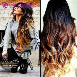 Discount ombre human hair wave #1B 33 27 three tone ombre full lace wigs human hair 130% density ombre lace front wig bleached knots with baby hair