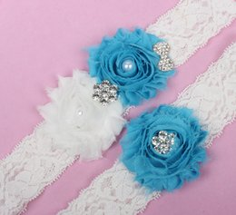 Wholesale Bridal Garters Sexy Wedding Garters Lace Edge Leg Garters with Crystal Beads Wedding accessories M XL WD008