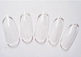 Wholesale 500 Oval Nails Tips Round Fullwell Clear Color Tips False Nail Art Tips Wholesales Retail set