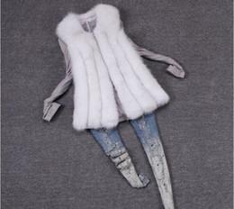 Wholesale New Winter Women Fashion Faux Fur Vest Long Waistcoat Women Sleeveless Luxury Fur Coat vestido de festa s xxl Drop Shipping