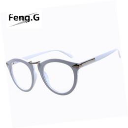stylish eyeglasses zzlf  Wholesale-Arrows Neon solid color round eyeglasses frame hip-hop stylish  trendy women men vintage retro frames Spectacles