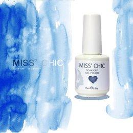 Wholesale 2014Miss Chic Soak Off UV Nail Gel Polish color gel pc top coat pc base colors available