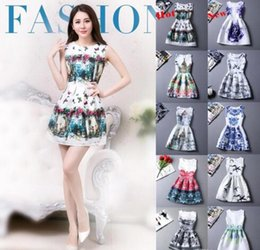 Wholesale 2016 New Spring Women Dresses White Vintage Printing For Party Sexy Club Dresses Cheap Clothes China Beach Bodycon Dress OXL072301