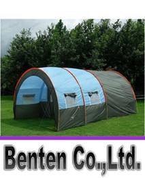 Outdoor 5-6-8-10 Personnes Family Camping Randonnée grande fête Tentes 1 Hall 2 Chambre étanche Tunnel Tente événement Tentes Tente de plage LLFA3830F