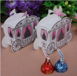 Wholesale Cinderella Pumpkin Carriage Candy Boxes quot Enchanted Carriage quot Fairytale Themed Favor Box Wedding Boxes party box gift bag