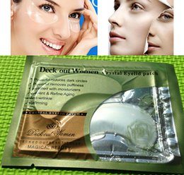 Wholesale 1pc Collagen White Crystal Anti wrinkle Refirming Eye Mask Eyelid Patch Deep Moisture Powerful reduces dark circles puffiness