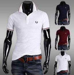 Wholesale 2015 summer new fashion stand up collar short sleeved T shirt polo top olive leaf male polo shirt cotton casual men s fitness