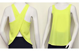 Wholesale 2015 Summer Women Blouses Candy Color Casual Lady Shirts Sexy Backless Strap Chiffon Blouse Tops XXL S579M