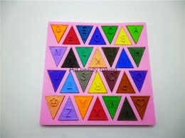 online shopping New Flag Shape English Letters And Other Design D Silicone Mold Chocolate Fondant Cake Decorating Tools