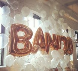 free shipping wholesale balloons extra large gold english letters a z aluminum membranes balloon from large gold
