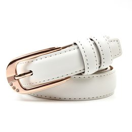 Wholesale Very very Cheap new leather women belts Chastity Rhinestone belts for women Good Quality black belts white belts candy color belt