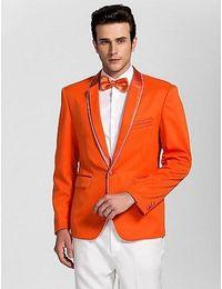 Discount Royal Blue Orange Groom Suits   2017 Royal Blue Orange ...