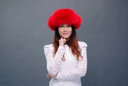 Wholesale 2014 new lei feng s hat red fox fur hat
