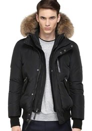 Wholesale Mackage men s clothing down jacket new down coatHARVEY F4 DOWN BOMBER JACKET WITH FUR HOOD color top qualiity