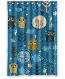 Custom Home Decor Animal Owl Cute Fabric Moden Shower Curtain Bathroom Waterproof 66 X72 Free Shipping