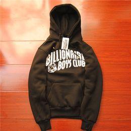 Wholesale streetwear brand name mens clothing coats black hoody fleece matching couple graphic pullover S XL bbc billionaire boys club