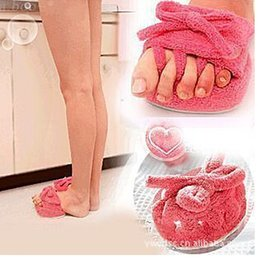 Wholesale New A Pair Pink Slim Slipper Half Sole Massage Shoes Weight Loss Dieting Legs Slippers