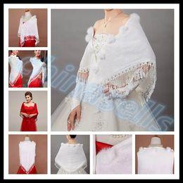 Wholesale winter Bridal wedding dress bridal wedding jacket woman triangle shawl wool shawl multifunction wrap lady scarves scarf