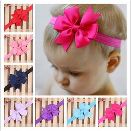 Wholesale Baby Elastic Headbands Children Hair Accessories Kids Hair Flowers Girls Bowknot Head bands Infant Headband colors