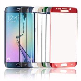 0.2MM Pour Samsung Galaxy S7 bord S6 bord Plus protecteur plein écran verre trempé 9H 3D curvées écran protecteur avec forfait au détail
