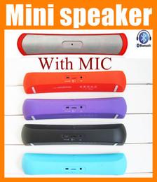 Wholesale Le plus récent Mini haut parleur Bluetooth de luxe Haut bande haut parleur portable haut parleur pop rock portable usb extérieur musique mobile PC mp3 haut parleur boîte MIS031