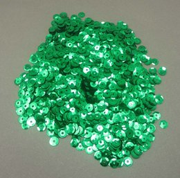 Wholesale 10g aprox mm verde Flake de lentejuelas Decoración Confetti