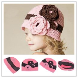 Wholesale hot Crochet Knit Woolly Hat Baby Handmade crochet Hat childrens handmade Crochet Knitted hat DHL FREE