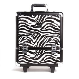 Wholesale The Body Shop Fashion Professional Aluminum Makeup Box Cosmetic Trolley Aluminum Makeup Case