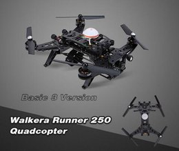 Cheap Original Walkera Runner 250 Basic 3 Version RTF RC Quadcopter drones avec 800TVL HD Camera / OSD / DEVO 7 Transmetteur 1pcs DHL