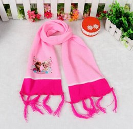 Wholesale 2014 NEW fashion Children s knitting frozen Scarf Baby warm wool scarf free shpping DHL