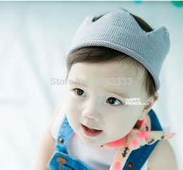 Wholesale Sweet Newborn Infant Baby Girl Boy Handmade Crochet Knitted Crown Hat DHL Fedex