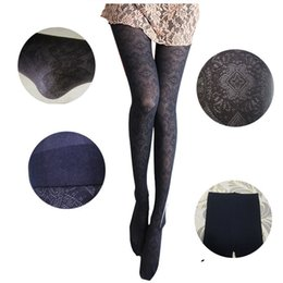Wholesale women s fashion and sexy show slim Lace Vintage jacquard totem pantyhose tight wholesales AS073