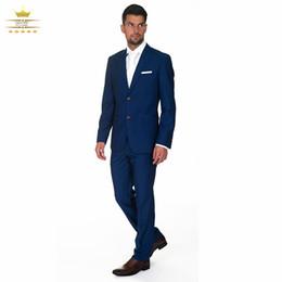 Discount Mens Wedding Suit Navy Gold Tie | 2017 Mens Wedding Suit ...