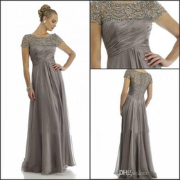 Mother Bride Dresses Grey Long Sleeves Online - Mother Bride ...