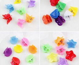 Wholesale New Fashion Mixed colors Plastic Hair Clip Baby Women Clamp Style