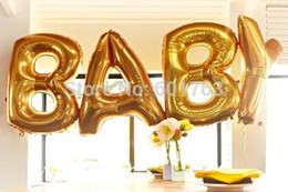 wholesale 40 big size gold silver alphabet a z foil letters balloons new year birthday party wedding decoration love ballon discount big silver letter