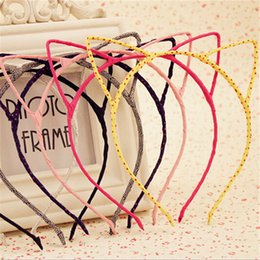 Wholesale Hot Sale Girls Hair Accessories Korean New Cute Cat Ears Headband Children Headdress Girls Hairpin Fine Accessories Piece