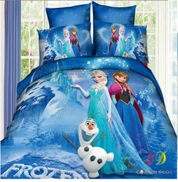 Wholesale 2015 NEW baby FROZEN QUEEN kids GIRL bedding sets pieces flat sheets dovet cover pillow cases boy girls children nursery bedding