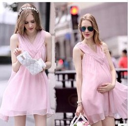 Wholesale Brand summer chiffon maternity dresses fashion maternity formal dress sleeveless dress for pregnant woman maternity supplies clothes