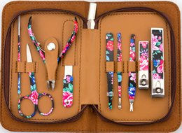 Wholesale 2014 Special Offer New Sets flower pattern manicure set Nail Tools
