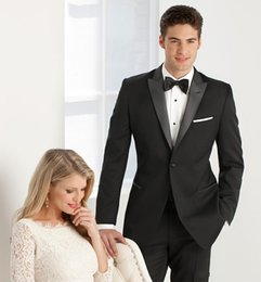 Wholesale 2015 Black suit Custom made High quality Tuxedos Groom Groomsmen Handsome wedding suits for men Jacket Pants Bow Tie