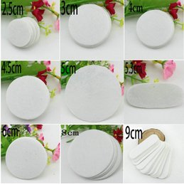 Wholesale Each size white oval felt pad for fabric flower non woven rectangle fabric pads DIY jewelry accessories caton
