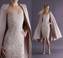 Wholesale New Style Sexy Short Mini Lace Cocktail Dresses With Jackets Formal Evening Party Gowns Dress Occasion For Party Prom Appliques Beading