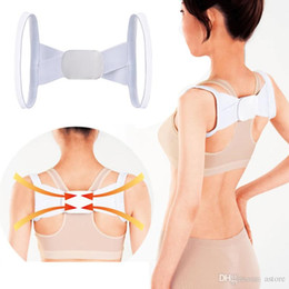 Wholesale New Arrivals Health Adjustable Back Lumbar Support Brace Belt Posture Shoulder Corrector Strap T189