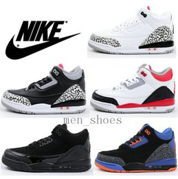 Wholesale Kids Nike Air Jordan Shoes Retros III Sneakers Children Basketball Shoes Toddlers Cheap Best Boy s Basketball Shoes New