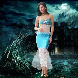 Wholesale Sexy sequined mermaid princess dress party dress COS role playing role playing dress Halloween costumes