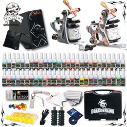 Wholesale Complete Tattoo Kit Machine Guns Ink Equipment Needles Power Supply