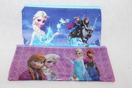 Wholesale HOT SALE Fastest Shipping Thicker PVC Transparent Frozen Pencil Case Pen Bag Frozen Stationery Kids Children Favorite Gift Colors